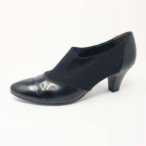 Paul Green Black Heel Slip On Ankle Booties